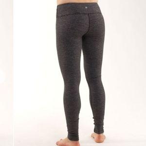 Lululemon Brushed Wunder Under Yoga Pants Leggings Gray Activewear Athleisure
